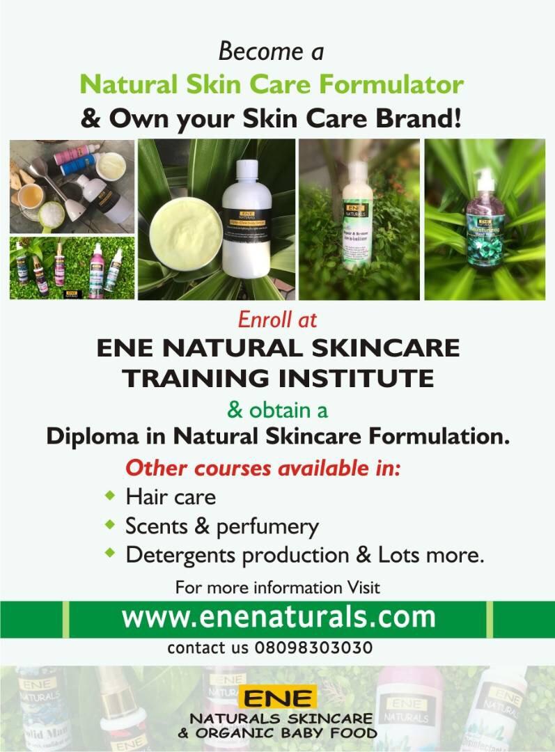 ene naturals skincare training nigeria